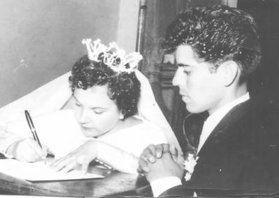 13052018 Rosa Valdés de Rosales y Juan Rosales Carrillo el 24 de mayo de 1958.