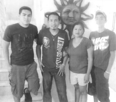 13052018 Erick, Mauro, Lulú y Alex Espinoza.