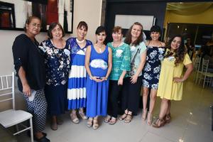 13052018 ACOMPAñAN A ESTEFANíA.  Graciela, Cecilia, Verónica, Patricia, Daniela, Hilda y Verónica en la fiesta de canastilla que se le organizó a Estefanía Castillo de Caldera.