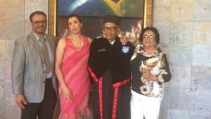 15052018 Dr. Salvador Viramontes Valdez con su esposa, María del Carmen Ibarra de Viramontes, su hijo, Gabriel Viramontes Ibarra, y su nuera, Virginia Emma González de Viramontes.