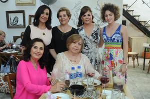 Claudia de Mijares  Gloria de Iparrea  Margarita Galindo  Mayte Kawas  Cristina de Kawas y Dely de Sleiman