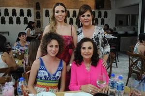 Marian Aguilera  Margarita Galindo  Mayte Kawas y Cristina Zarzar de Kawas