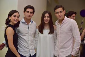 Valeria  Javier  Ana Cris y Carlos