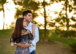 Con su novio  Sergio Ramirez