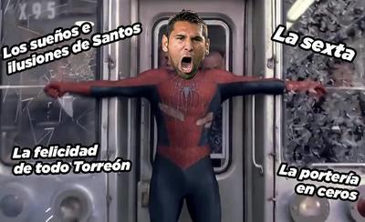 Santos también gana en los memes