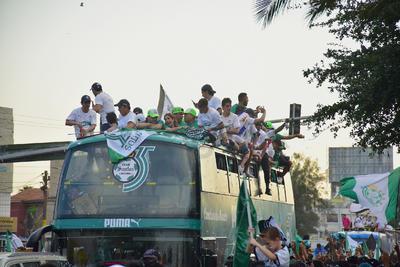 La alegría por un nuevo título de Liga Mx volvió a desfilar por las calles de La Laguna.