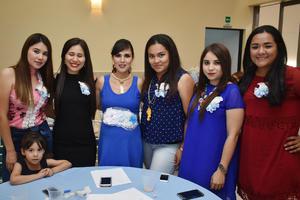 22052018 FIESTA DE CANASTILLA.  Estefanía Verónica con amigas en su baby shower.
