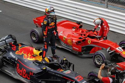 Ricciardo se mostró sumamente contento tras ganar la carrera.