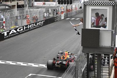 Ricciardo fue el primero en cruzar la meta para ganar el GP de Mónaco.