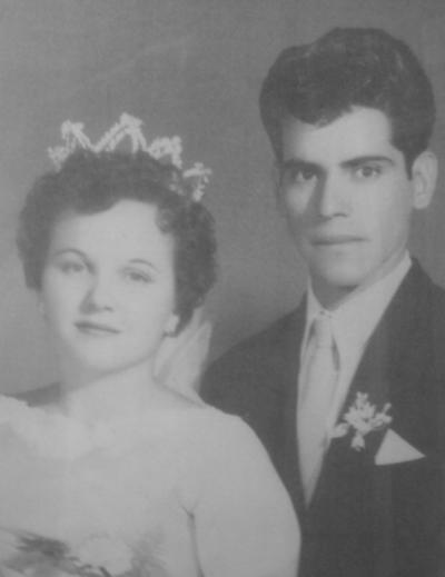 27052018 Rosa Valdés de Rosales y Juan Rosales Carrillo el día de su boda el 24 de mayo de 1958.