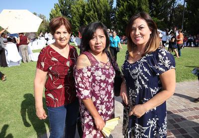 Maricela Granados, Marisol Alonso y Tania Vizcarra.