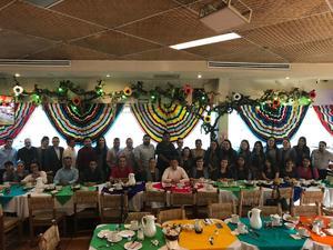 29052018 EN AMENO FESTEJO.  Integrantes de conocido Despacho de Contadores celebrando el Día del Contador Público.