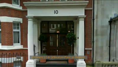 Su residencia se ubica en Belgrave, una zona exclusiva de Londres.