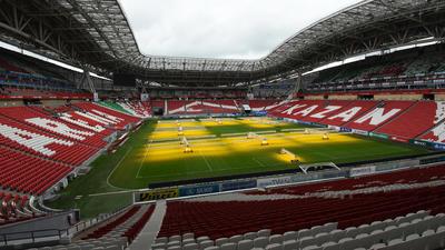 Kazan Arena. 45,000 espectadores.