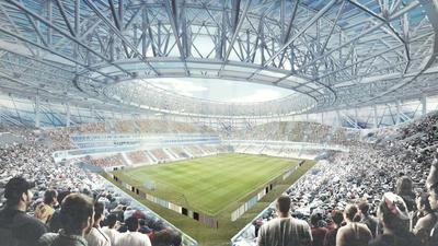 Nizhny Novgorod Stadium. 45,764 espectadores.