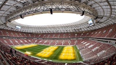 Luzhniki Stadium. 80,000 espectadores.