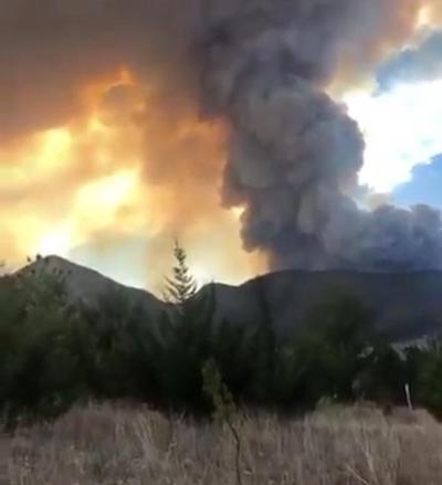Un incendio de considerable magnitud fue registrado la tarde de este miércoles en la Sierra de Arteaga.