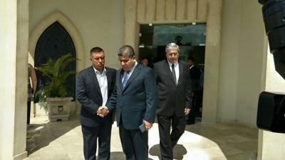 Hasta el lugar arribó el gobernador Miguel Riquelme.