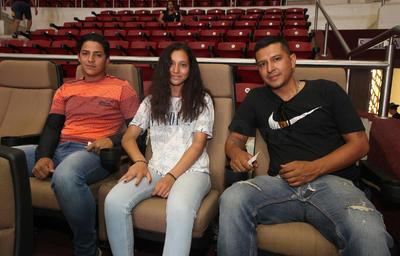 Martín Flores, Marco Vinicio y Bernardo Andrade.