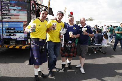 Los escoceses viajaron hasta tierras aztecas para ver a su Selección jugar.