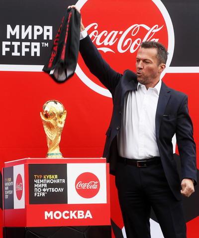 Hoy llegó a tierras rusas la Copa del Mundo.