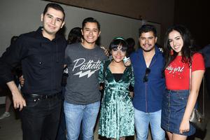 03062018 AMIGOS.  Jonathan, Bryan, Ana, Miguel y Andrea.