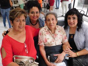 04062018 María Concepción Medina, Cristina Elisa Guevara, Lucila Castro de Rosales y Marycarmen Rosales Castro.