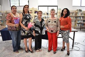 04062018 Marylola Vázquez Álvarez, Blanca Domínguez R., Irma Leyva Ramos, Antonia Priego Estrada y Yadira Ortega Molina.