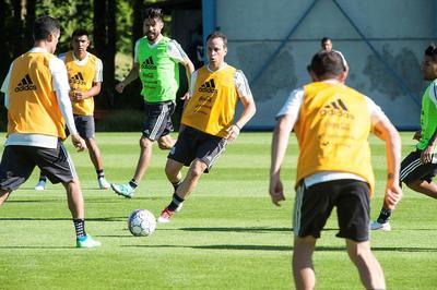"""Gerardo Torrado se unió a la práctica del """"Tricolor""""."""