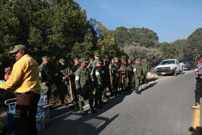 Elementos del Ejército se hicieron presentes.