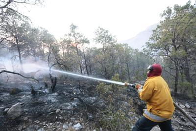 Elementos de bomberos han trabajado para apagarlo.