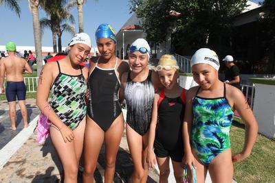 Mariana, Galilea, Victoria, Michele y Karla.