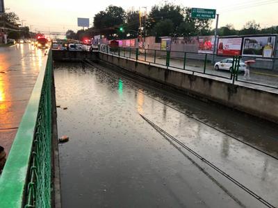 El nivel del agua llegó a los cuatro metros.
