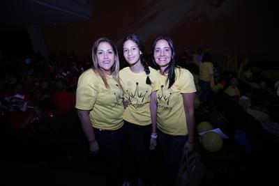 Julieta González, Valentina Navarrete y Claudia Valdez.