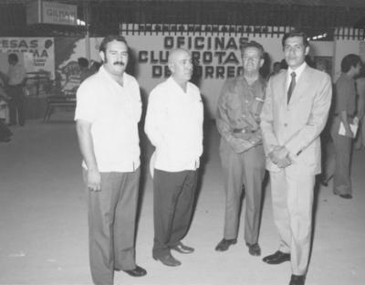 10062018 Antonio López, Misael Molina, Jesús Reyes y Miguel Máynez en la inaguración de la Feria del Algodón en 1973.