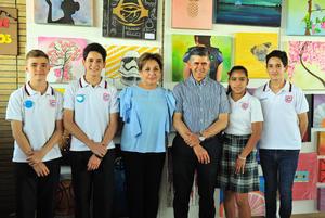 11062018 Santiago Cantú, Abraham Jalife, Sofía Anaya y Jaime Méndez Vigatá, Marlene Saldívar y Elías Jalife.