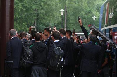 La Selección Nacional aterrizó en Rusia.
