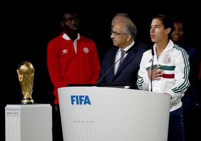El seleccionado nacional sub-21, Diego Lainez.