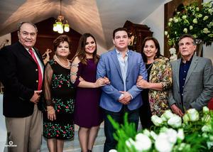 16062018 PEDIDA DE MANO.  Carolina y Guillermo con Fernando y Elva, Guillermo y Silvia.