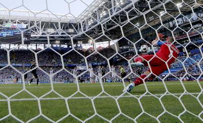 Messi falló el penal y no pudo dar el triunfo a Argentina.