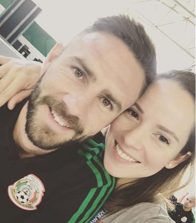 Miguel Layún y su esposa Ana Laura Galvan.