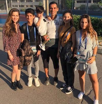 Rafael Márquez convivió junto a su esposa Jaydy Michel y sus hijos.