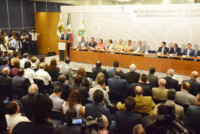 El gobernador Miguel Riquelme destacó que Durango y Coahuila en los últimos años han trabajado de manera coordinada para construir las instituciones que permitan garantizar la disminución de delitos.