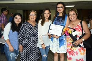 22062018 ORGULLOSAS.  Araceli, Daniela, Ilse, Aurora y Gaby.