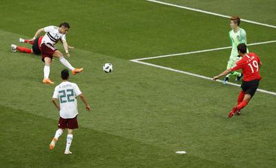 Llegó finalmente el 2-0 para México.