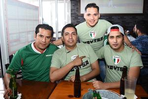 25062018 Carlos, Gerardo, Paco y Edgar.