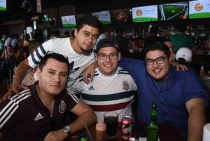 25062018 David Silva, Héctor Martínez, René Rangel y César Guzmán.