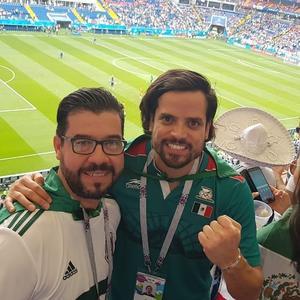 24062018 APOYAN A MéXICO.  Mauricio Guizar y Josué Mascorro.