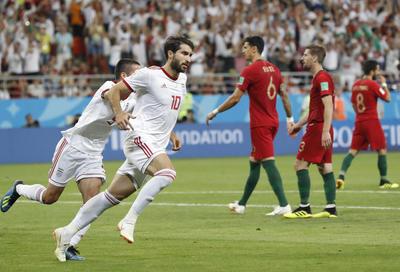 Ansarifard marcó el penal del empate 1-1 ante Portugal.