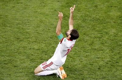 Ansarifard celebra el empate.